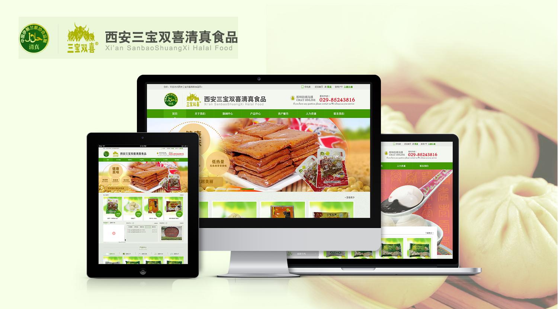 西安三宝双喜清真食品_营销型网站【艺源科技】